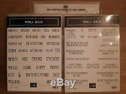 Stampin Up Well Said 1 and 2 Stamp Sets & Well Written Framelits Dies