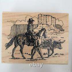 Stampin Up Wild Wild West 2002 Set Of 6 With Box Stamps