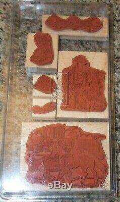 Stampin Up Wild Wild West Western Cowboy Stamp Set, Complete