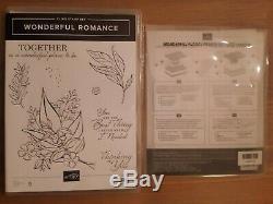 Stampin Up Wonderful Romance Stamp Set & Wonderful Floral Framelits Dies