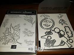 Stampin Up Wonderful Romance Stamp Set and coordinating Thinlits RETIRED