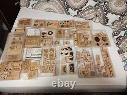 Stampin' Up Wood MULTIPLE SETS. Christmas. Hearts. Thanks. Floral. Bears. Greetings