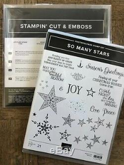 Stampin Up retired SO MANY STARS stamp set, STITCHED STARS DIES BUNDLE Christmas