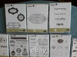 Stampin up HUGE LOT OF 16 SETS RETIRED 16 NEW SEE GREAT LOT