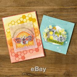 Stampin up Honey Bee cling set & matching Detailed Bee Dies bundle NEW