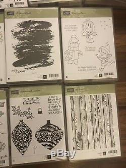 Stampin up Huge Lot Of 20 New Retired Stamping Sets