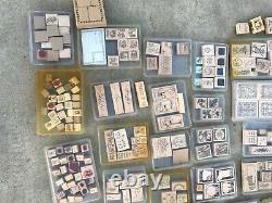 Stampin up! LOT 40 used stamp sets (225+ total) rubber stamps holiday/seasonal