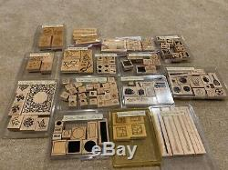 Stampin up Lot. 15 different sets with 124 stamps in all. Sports, shapes, sayings