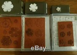Stampin up Mixed Bunch, Flower Shop, Petite Petals Stamps Sets WithMatching Punches