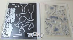 Stampin up Sip Sip Hooray SetNEW & Celebrate Dies BundleWine Champagne+ CARD