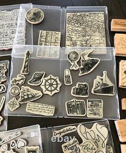 Stampin up & Tim Holtz Cling Stamp Sets & Misc Lot