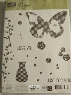 Stampin up Watercolor & Floral wings sets matching dies & dies by dave bonus HTF