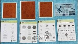 Stampin up rubber stamp sets new lot of 6