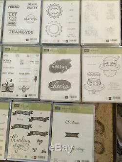 StampinUp HUGE LOT OF 40 BRAND NEW, Retired Stamp Sets! All Occasions