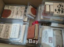 Stamping up stamp sets (over 40 sets), dies, punches, paper and other supplies