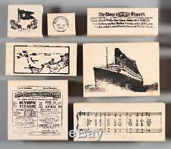 Titanic Set of Rubber Stamps Ship Wreck Disaster History White Star LIne