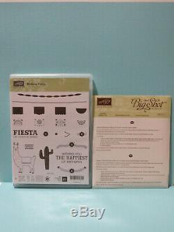 USED Stampin Up Stamp Set Birthday Fiesta and Fiesta Time Framelits Dies