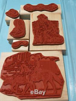 USED WILD WILD WEST Stampin Up Set RETIRED Rare Horse Cowboy Boots Spurs Saddle