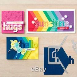 Used- Stampin' Up! Bundle Lined Alphabet Stamp Set & Layering Alphabet Dies