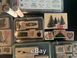 Wood Rubber Stamps Stampin Up Yukon Wildlife Teacher Sports Soccer set lot